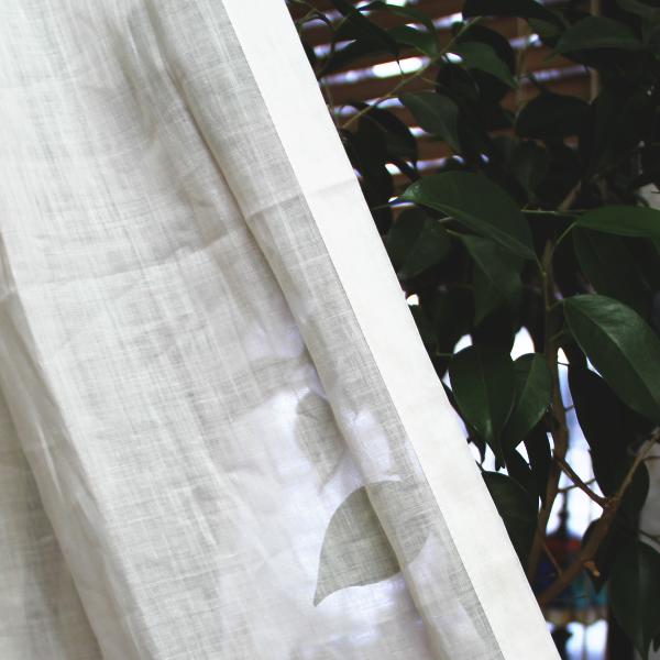 天然素材のカーテン