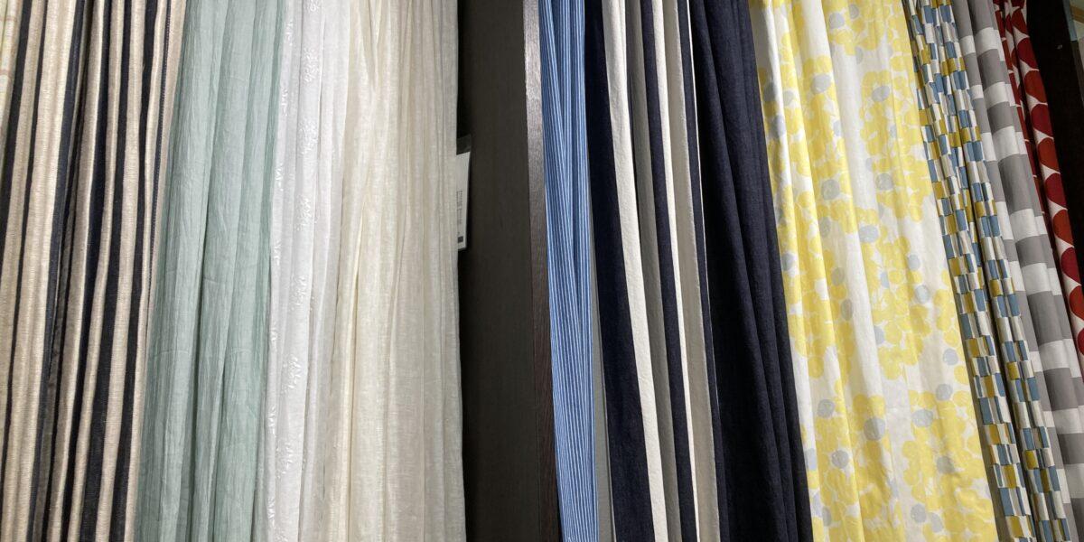 綿麻のカーテン